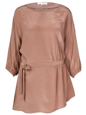 Шелковое платье - коричневое Ca' Vagan