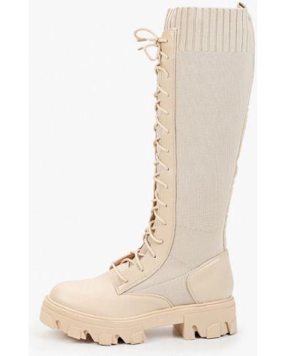 Бежевые текстильные сапоги Sweet Shoes