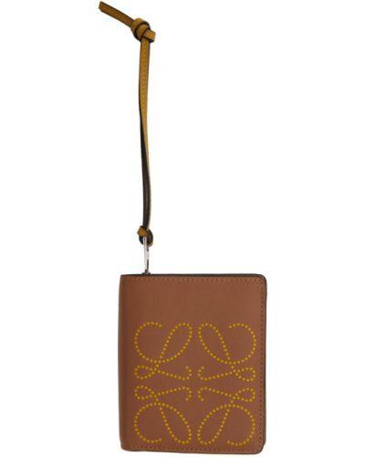 С ремешком черный кошелек для монет с тиснением Loewe