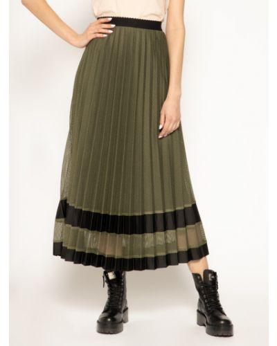 Zielona spódnica plisowana Laurel