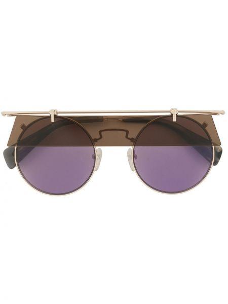 Złote fioletowe okulary Yohji Yamamoto
