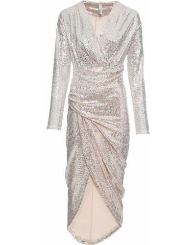 Розовое платье с пайетками Bonprix