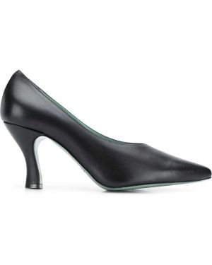 Черные туфли-лодочки на каблуке Paola D'arcano