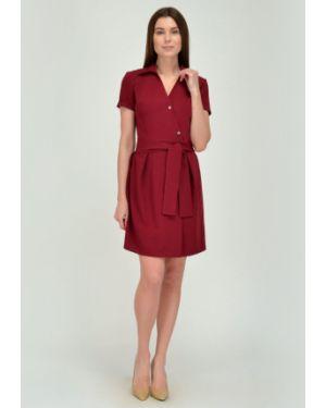 Платье с поясом с запахом со складками Viserdi