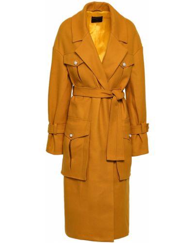 Шерстяное пальто с поясом с жемчугом Mother Of Pearl