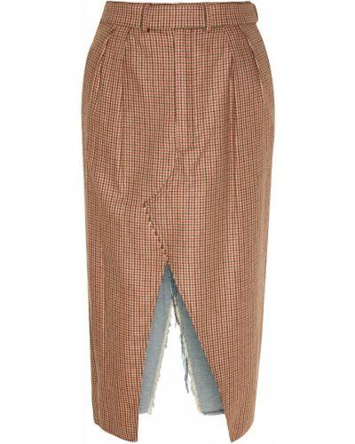 Юбка карандаш миди джинсовая Unravel Project