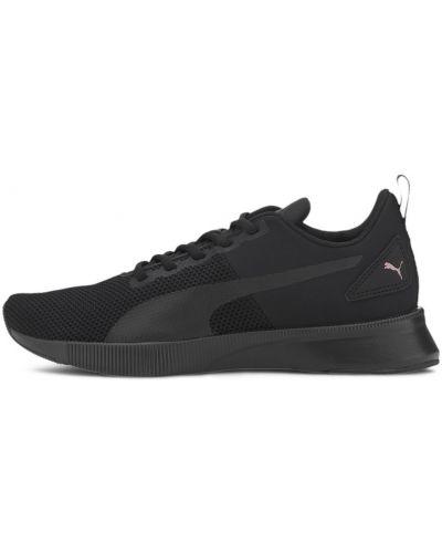 Спортивные черные кроссовки для бега на шнуровке сетчатые Puma