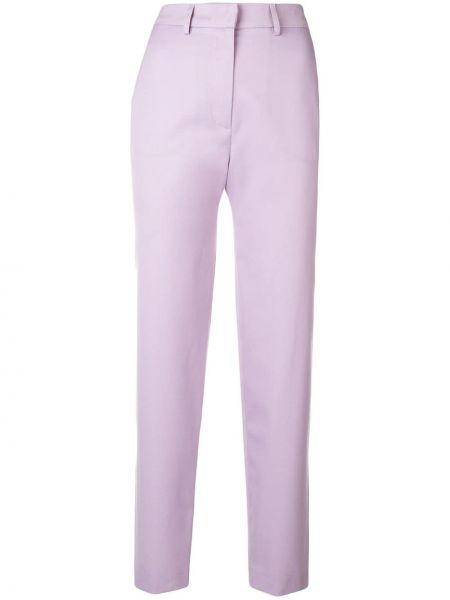 Деловые розовые брюки с воротником с карманами House Of Holland
