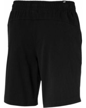 Повседневные черные короткие шорты с карманами Puma
