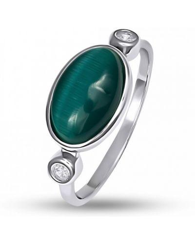Кольцо с камнями - белое Bigsun