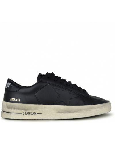 Czarne sneakersy skorzane Golden Goose