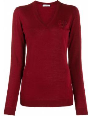Длинный свитер в рубчик с вышивкой Versace Collection