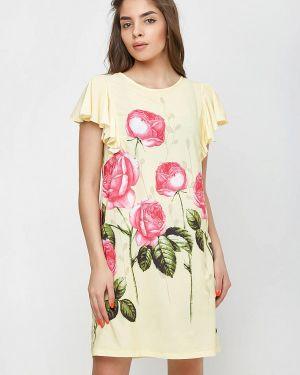Платье прямое желтый Sfn