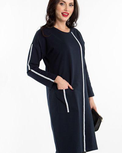 Хлопковое платье - синее Lady Taiga