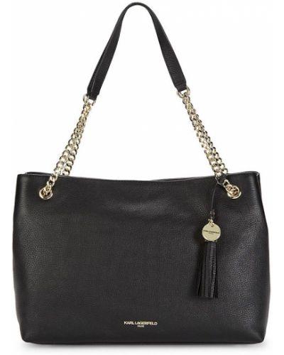 Czarny złoty łańcuszek elegancki Karl Lagerfeld Paris