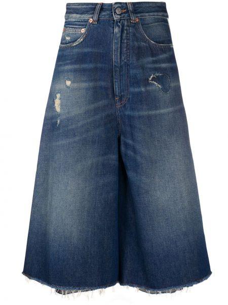 Юбка миди джинсовая с завышенной талией Mm6 Maison Margiela