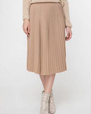Бежевая плиссированная юбка Sewel