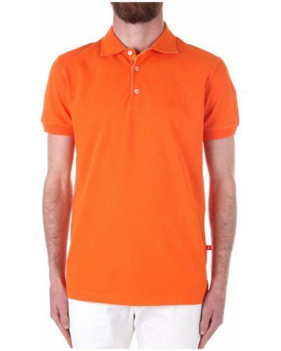 Pomarańczowa koszulka krótki rękaw Vilebrequin