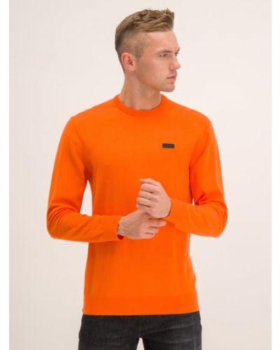 Pomarańczowy sweter Hugo