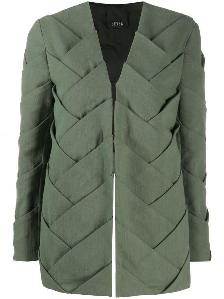 Длинная куртка - зеленая Bevza