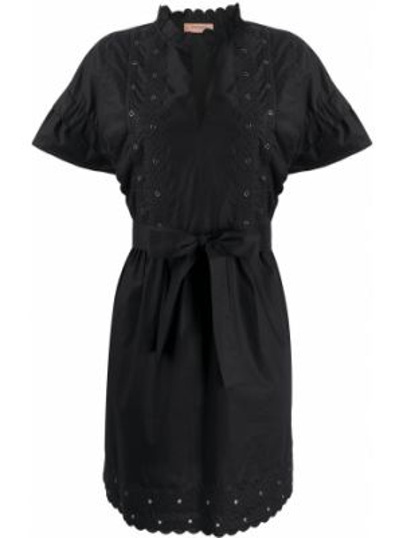 Платье мини с вышивкой из поплина Twin-set
