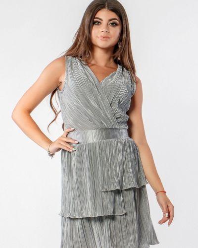 Вечернее платье осеннее серебряный Margo