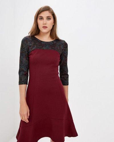 Повседневное платье осеннее красный Madam T