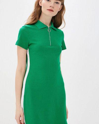 Платье футболка зеленый Modis