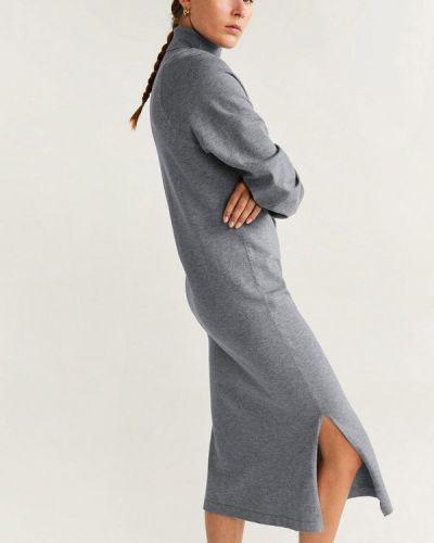 Платье серое платье-толстовка Mango