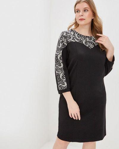 Платье - черное авантюра Plus Size Fashion