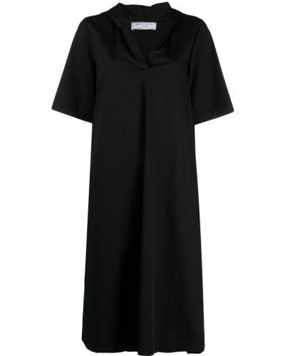 С рукавами черное платье трапеция SociÉtÉ Anonyme