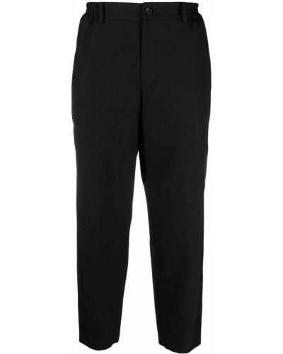 Klasyczne czarne spodnie z paskiem Comme Des Garcons Homme Deux