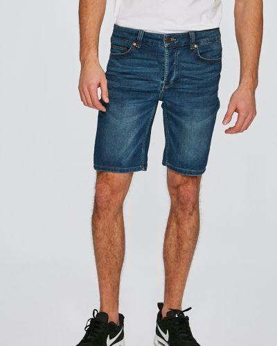 Джинсовые шорты прямые хлопковые Only & Sons
