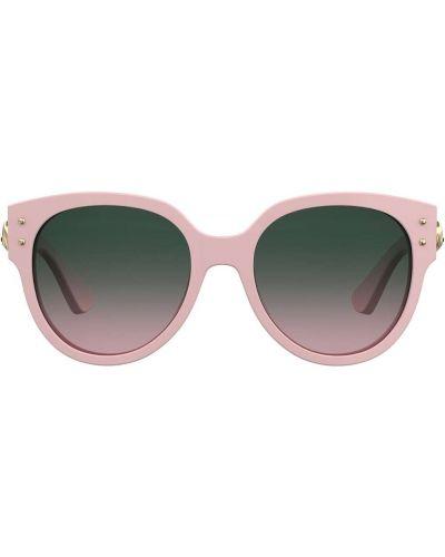 Розовые солнцезащитные очки круглые Moschino Eyewear