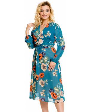 Платье с поясом с запахом с цветочным принтом Novita