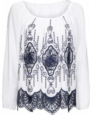 Блузка с длинным рукавом кружевная боди Bonprix