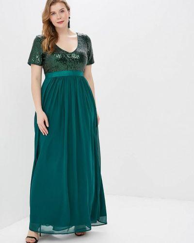 Вечернее платье зеленый Goddiva Size Plus