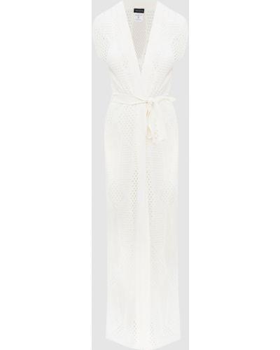 Белое платье с разрезом Moeva