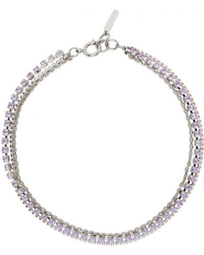 Fioletowy naszyjnik z kryształkami Justine Clenquet