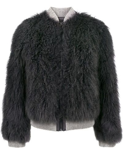 Длинная куртка серая темно-серый Cara Mila