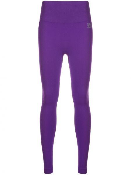 Фиолетовые леггинсы в рубчик с поясом Monreal London
