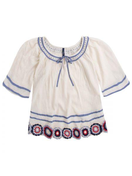 Блузка с коротким рукавом хлопковая короткая Pepe Jeans