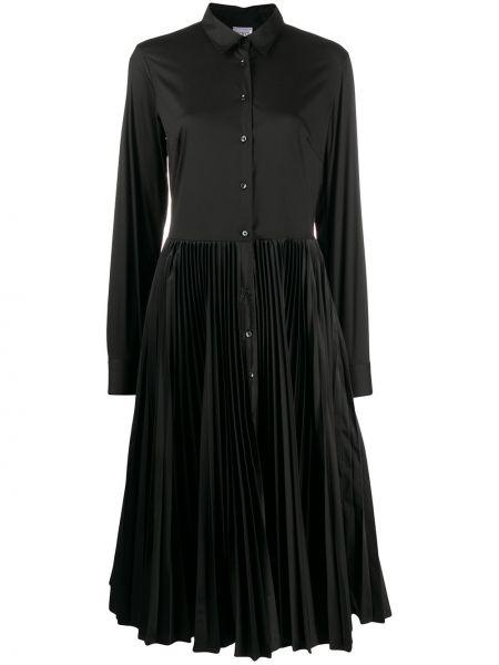 Классическое платье макси с длинными рукавами на пуговицах с воротником Sara Roka