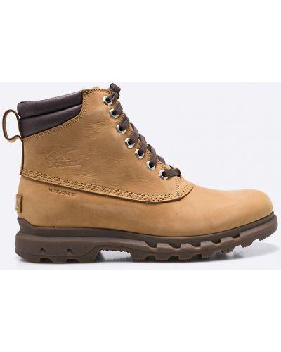 Кожаные ботинки на шнуровке высокие Sorel