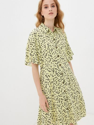 Желтое платье-рубашка Selected Femme