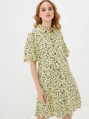 Желтое платье Selected Femme