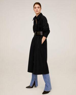 Пальто классическое шерстяное с воротником Mango