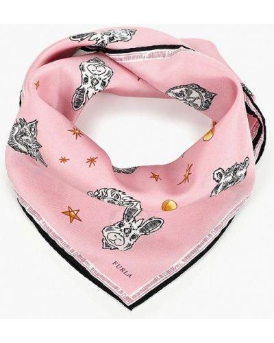 Розовый платок итальянский Furla