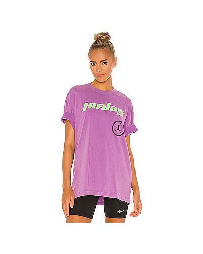 Фиолетовый хлопковый топ Jordan