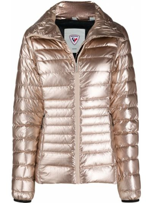 С рукавами розовая стеганая куртка Rossignol